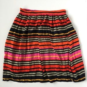 Eci New York Colorful Striped Skirt Knee L